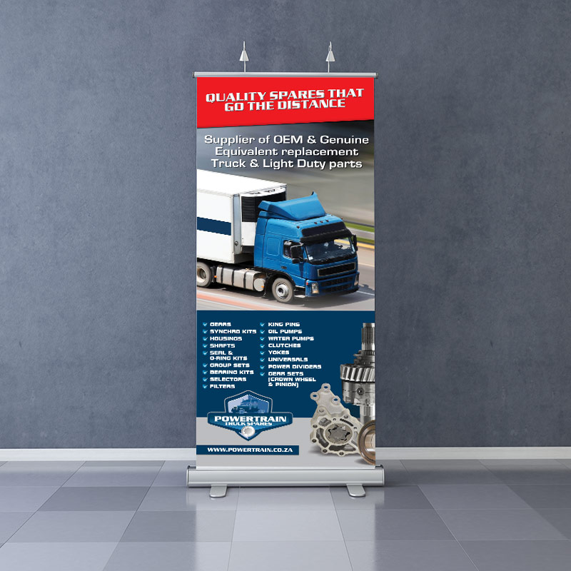 Powertrain Roll up Banners